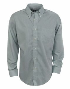New Brooks Brothers- Micro Gingham Sport Shirt Mineral Blue Size Large