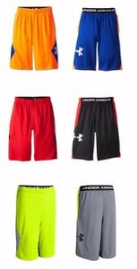 3 NWT Under Armour from downtown LIGHTWEIGHT mesh HEATGEAR shorts boys YLG L LOT