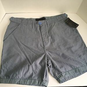 New Oakley Men's Golf Causal Blue Chambray Business Class Shorts Size 34 SlimFit