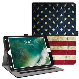 For iPad Pro 11 amp; 12.9 amp; 10.2#x27;#x27; amp; 9.7 Multi Angle Slim Case Stand Cover w Pocket $12.49