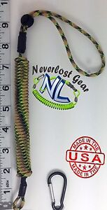 Small Kayak Rod Paddle Tool Leash Extends over 4 FT Swamp Snake NEVERLOST