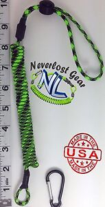 Small Kayak Rod Paddle tool Leash Extends over 4 FT Zombie Outbreak NEVERLOST