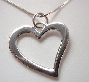 Small Curved Heart Pendant 925 Sterling Silver Corona Sun Jewelry $4.99