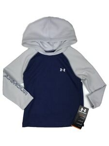 Under Armour UA Boy's Toddler Gray & Blue Knight Hoodie All Seasons 2T