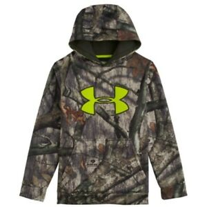 Under Armour Scent Control Mossy Oak Tree Stand Boys  Hoodie Large