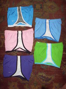 Girl's Lot 5 NIKE Fit-Dry Shorts Size S 8-10 Yrs