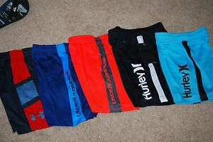 LOT 5 NWT YOUTH UNDER ARMOUR HURLEY BOYS SHORTS SIZE 56 CHILDREN'S BASKETBALL