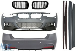 BodyKit BMW F30 11+ M-Performance Look Sport Side Skirts+Front Grilles M Black