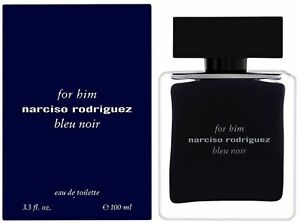 Narciso Rodriguez Him Bleu Noir Eau de Toilette Spray for Men 3.3 oz (Pack of 6)