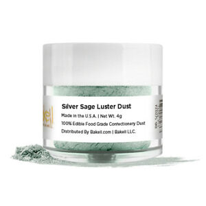 Bakell™ Silver Sage Edible Luster Dust 4g Food Grade Pearlized Decorating Dust