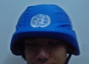 M88 blue helmet cover peacekeeping peace keeping un reenactment prop cosplay