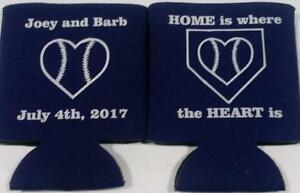 home is baseball wedding koozies quick shipping can cooler no minimums sp2157