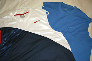 LOT 2 MENS SHIRTS TOP MUSCLE M RUNNING ATHLETIC NIKE FIT DRY SLEEEVELESS MEDIUM