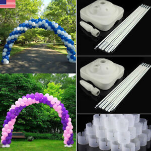 Heavy Duty Balloon Arch Floor Stand Kit &PoleBaseConnector Wedding Party Event