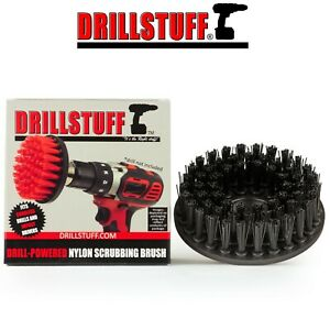 Black-Ultra Stiff Drill Brush For Stone Cleaning,Paint Striping, and Outdoor Use