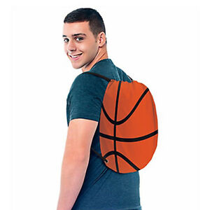 BASKETBALL DRAWSTRING SLING BACKPACK ~ Sports Birthday Party Supplies Favor NBA