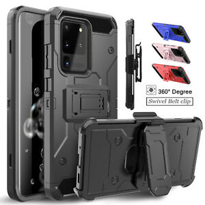For Samsung Galaxy S10 5G PlusNote 9S8S9 Cover Case With Kickstand+Belt Clip