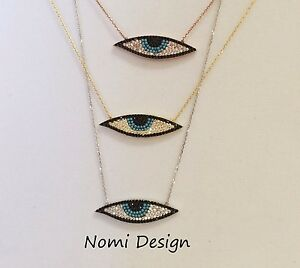 925 Sterling Silver Evil Eye Turkish Necklace