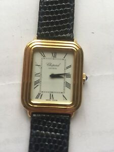 Chopard 18K solid yellow gold ladys watch with box only