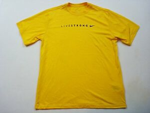 Nike Dry Fit Livestrong T-shirt Yellow Size Large Women's A15