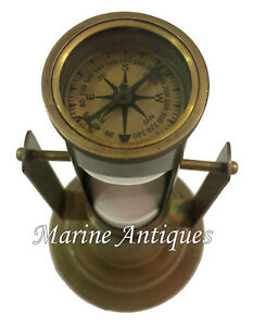 Antique Maritime Brass Hourglass Vintage Collectible Nautical Decor Sand Timer $45.00