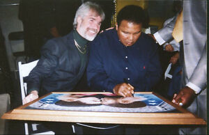 Muhammad Ali Autographed Original painting by Robert Emerald Shappy