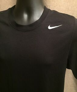 NIKE Dry Fit Black Short Sleeve Fitness Workout Shirt Stretch Men's Sz Small