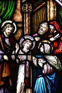 Stained Glass Window - Finding of the Child Jesus Church - Antique