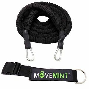 33ft Speed Resistance Bungee Band Trainer 360 Dynamic Training w Waist Band