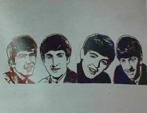 ANDY WARHOL Beatles unique orig Screenprint ESTATE authentictd only four known