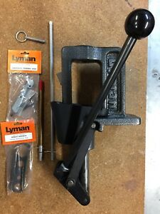 lyman crusher single stage reloading press used in excellent condition