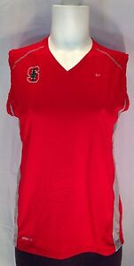 C676 Nike Fit Dry Women's Medium M(8-10) Stanford Cardinal Sport Tank Top  NCAA