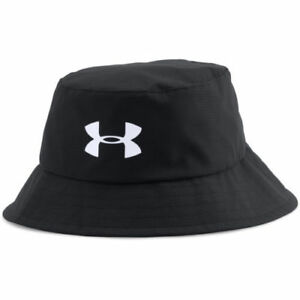 Under Armour Boy's UA Storm Golf Bucket Hat BlackWhite One Size
