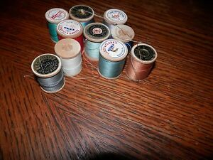 Lot of 10 Wooden Sewing Spools Free Shipping Lot Two $10.00