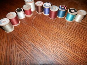 Lot of 11 Wooden Sewing Spools Free Shipping Lot Five $11.00