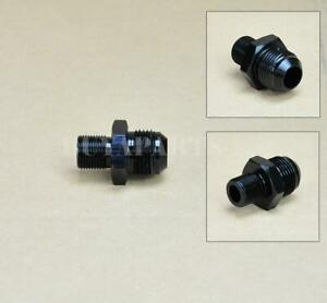 Black Aluminum Billet AN12 12 an to M20x1.5 Metric Male Fitting Straight Adapter