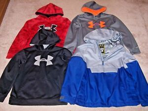 Under Armour Boys Lot Of 4 Storm Hoodies Size Youth Medium