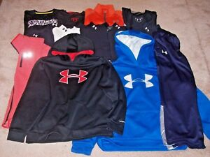 Under Armour Boys Lot Of 13 Long Sleeve ShirtsHoodies & Pants Size Youth L