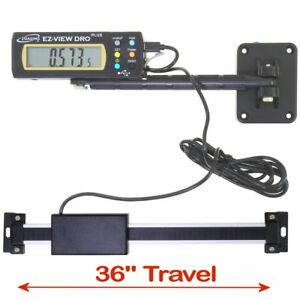 iGaging Digital Readout EZ VIEW DRO PLUS 36quot; AC Capable Remote X LG LCD Display $77.95