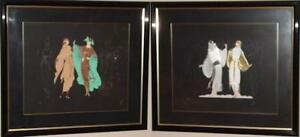 Erte 1985 Metropolis Suite Framed from the Roman Numbered Edition CII/CL