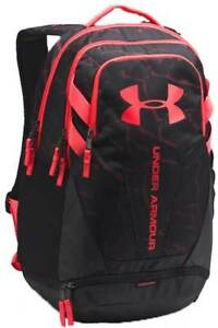 Under Armour Hustle Backpack - Black  Tropic Pink - New