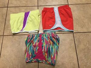 Nike Lot of Tempo Track Run Running shorts. 3 pair L large youth girls