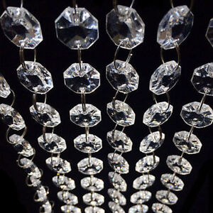 33 FT Clear Acrylic Crystal Bead Garland Chandelier Hanging Wedding Supplies Hot