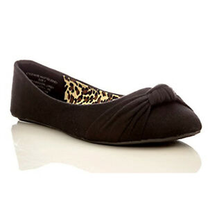Charles Albert Womens Knotted Jersey Ballet Flat in Black Size: 7 Sale TAX FREE