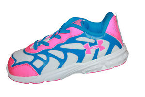 NEW Infant Girls Under Armour Spine Venom Running Shoes  Size 10 - 1238070-653