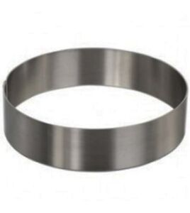 Round Pastry Ring/ Cake Mold, Stainless steel, Heavy Gauge.