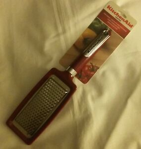 NEW KitchenAid Empire Red Flat Grater--Cheese, Chocolate, Vegetables--KC302OHERA