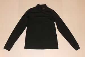 Nike Fit Dry Long Sleeve Compression Under Shirt Black Boy's Youth M (8-10)