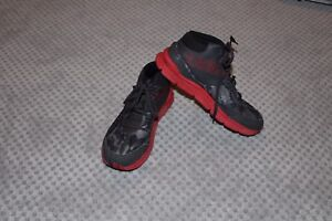 Boys Under Armour Size 6 BlackGreyRed Camo Sneakers