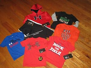 NWT UNDER ARMOUR BABY BOYS 12M MONTHS 7PC HOODIE PANTS & SHIRTS OUTFIT SETS LOT